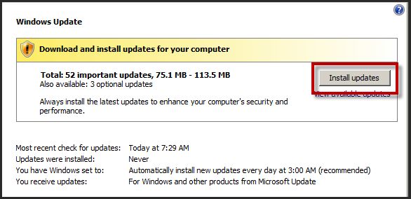 Page 17 of 243 You should now be back at the Windows Update page and an update scan should be running.