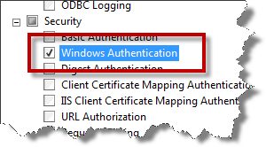 Page 31 of 243 Since TFS makes heavy use of Windows Authentication, the Windows Authentication role service is also required.