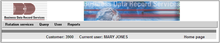 LOG-IN SCREEN To log in the user will be required to enter a User ID and Password (Fig. 1), issued by Business Data Record Services. Choose or use the <Enter> key.