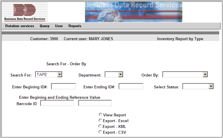 Report Output Options The user has the ability to preview (and print) or export report data as shown in Fig. 3. A description for each output option is detailed below.