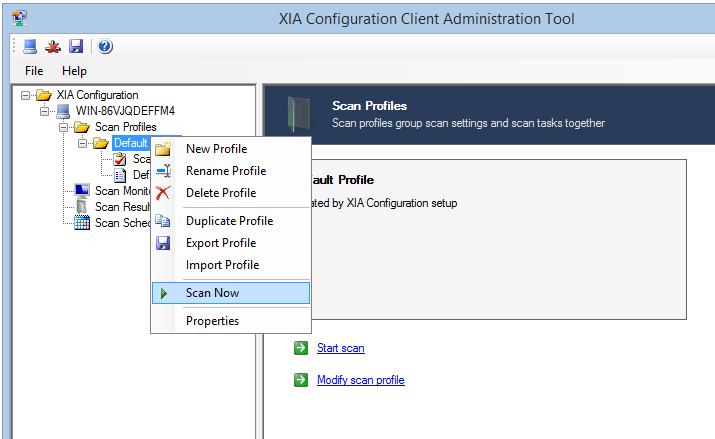 8. Ensure that the XIA Configuration Server URL matches the one that you connected to with the web browser.