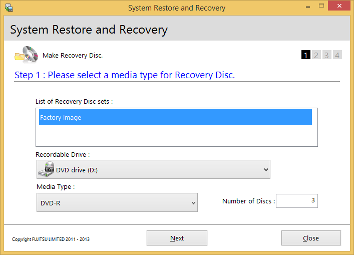 MAKING BACKUPS OF THE RECOVERY IMAGE AND SOFTWARE Creating a Backup of Bootable Disc and Recovery Image When you purchased your new system, a copy of the recovery image was loaded into a hidden