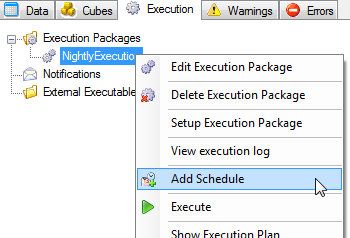 Execution Packages 158 A window will appear with the following settings: 2. Click the Daily radio button. 3.