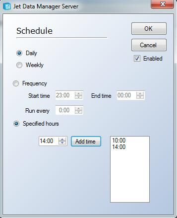 Execution Packages 159 7. The Specified Hours option allows the user to select the exact times that the package will be executed. 8.