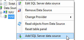 Data Sources 24 All tables and fields that have been removed from or added to the data source are listed in a separate window.