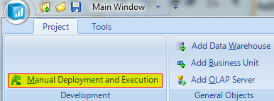 Deploying and Executing Projects 44 To Deploy and Execute Objects at the Same Time It is also possible to run both the deployment and execution of an individual object at the same time without having