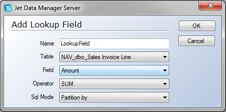 Data Warehouses 60 4. In the Name field, type a name for the lookup field, and then click OK. The field is added to the table tree.