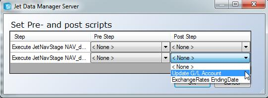 SQL Snippets 89 2. The Set Pre- and Post Scripts window will appear.