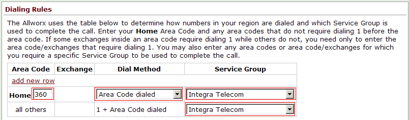 4. In the Call Route section, ensure that Routed using DID Block(s) is selected and check the appropriate DID block(s) as previously defined in DID Block Setup. 5.