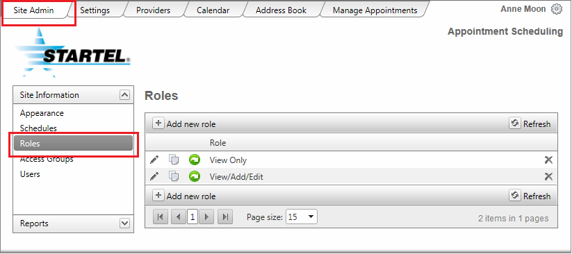 2 Fill in this screen with information appropriate for the client associated with this Schedule.