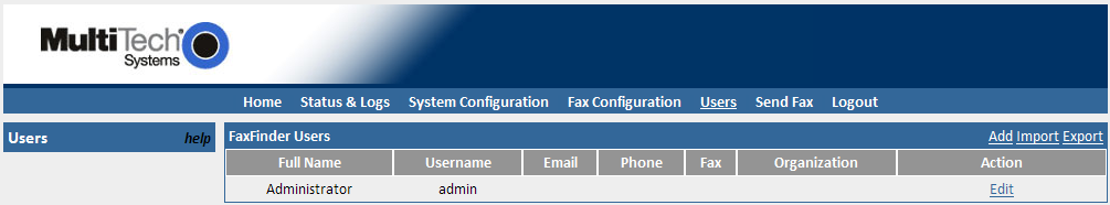 4. Configure the modem to receive a fax call Three important fields need your attention: Answer On change to 1 ring to speed up answer time. Default is 2 rings.