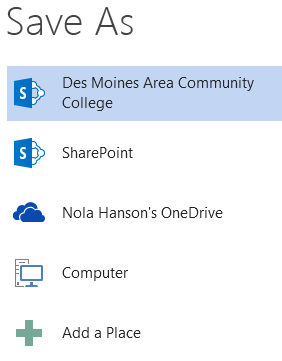 File Saving, nd Online Collaboration Office 2013 is designed to integrate with the cloud with OneDrive, formerly known as SkyDrive, and SharePoint.