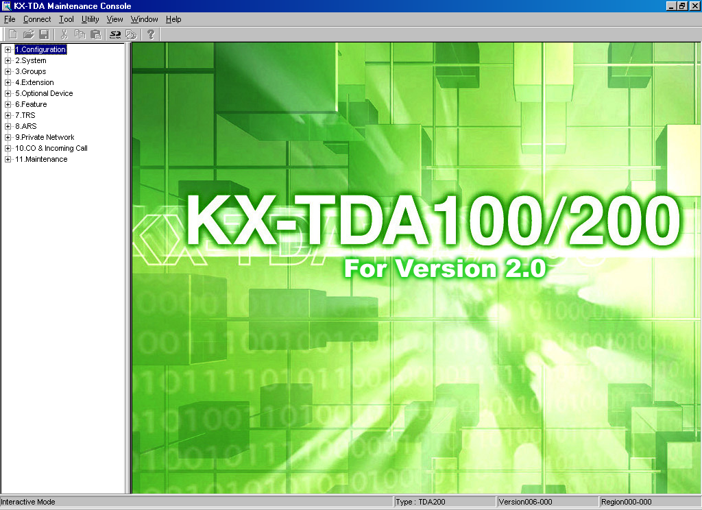 3.1 Overview 3.1 Overview 3.1.1 Overview KX-TDA Maintenance Console is designed to serve as an overall system programming reference for the Hybrid IP-PBX.