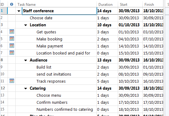 University of Brighton Information Services Exercise N Change the dates for your entire project 1 Shift your project to start in December. 2 Shift your project to start last week.
