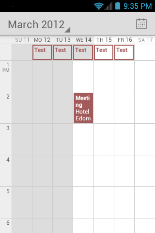 View Events You can display the Calendar in daily, weekly, monthly, or agenda view.