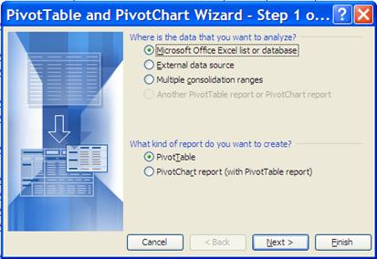 encumbrances to actual to receipt number and finally to a check number. To create a pivot table in Excel 2003 1.