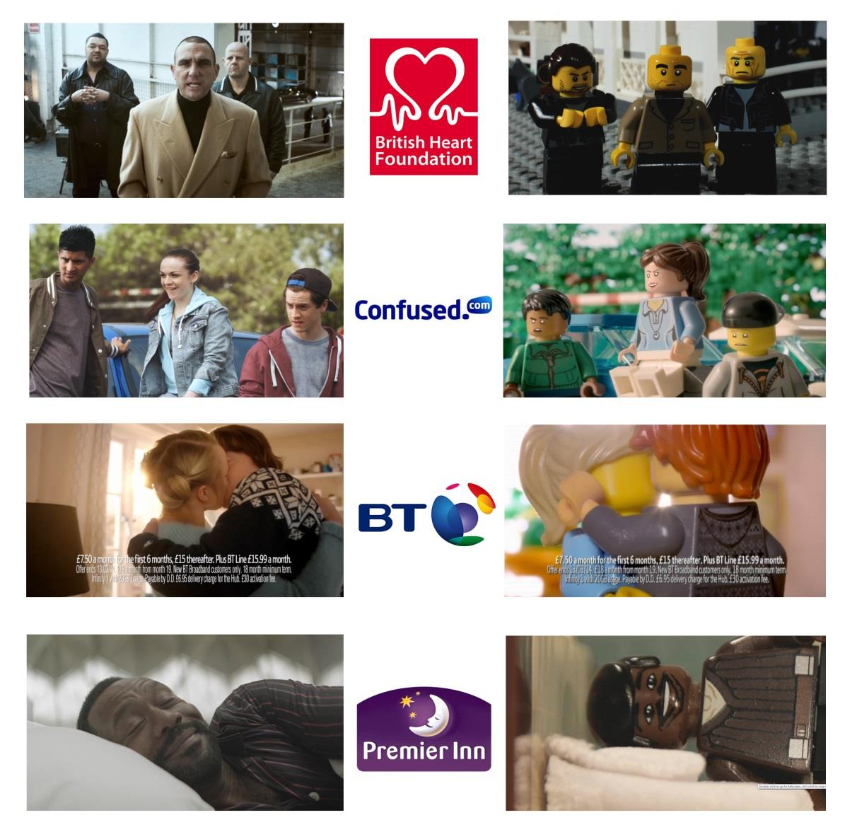 broadcast, type LEGO Movie ad break into YouTube or click HERE). Four familiar and modern UK television ads * for the British Heart Foundation, Confused.