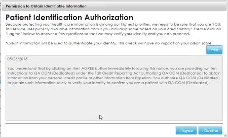 My Account 8. Click I Agree to authorize the organization to verify your identification.