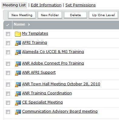 4 4. To Add ReadyTalk to an existing meeting Go to your list of meetings on your Adobe