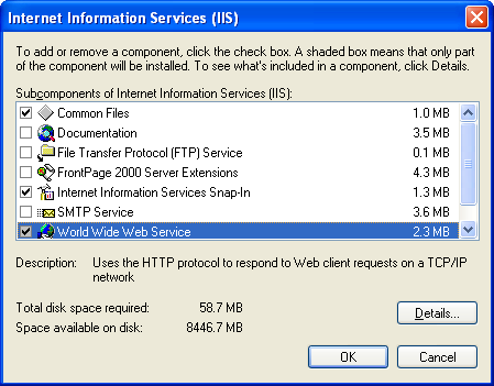 Deployment Guide 27 4. Highlight, but do not select Internet Information Services (IIS), then click Details.