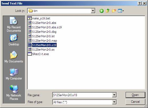 Figure 2 POD mode, host system Issue the command fload ;b to download the S-Record file of the HCS12 Serial Monitor. Option ;b indicates that this file is in S1-format (as opposed to S2).