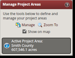 4.10 Manage Project Areas A few TxWRAP tools require the creation of a project area prior to using them. You must create a project area if you want to generate a risk summary report or export data.