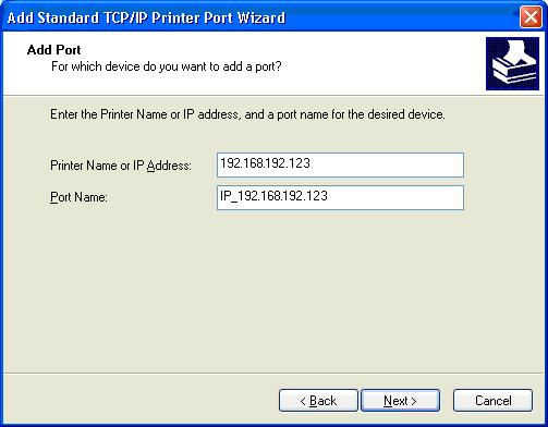 6) Select Standard TCP/IP Port and click New port. 7) When standard TCP/IP printer add wizard window pops up, click Next.