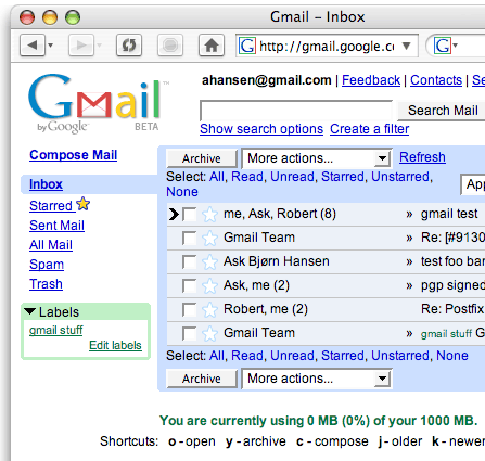 Internet Applications - Email mail