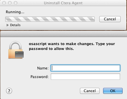 Installing the CTERA Agent 2 Uninstalling the CTERA Agent To uninstall CTERA Agent 1 Double-click on the CTERA Agent installer. The Agent Setup Actions pane opens.