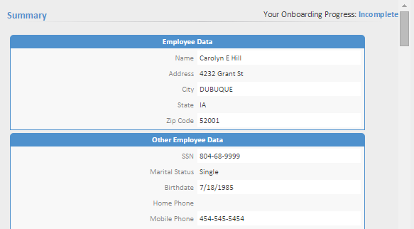 Direct Deposit New hires can enter their bank account information for direct deposits on the Direct Deposits page.