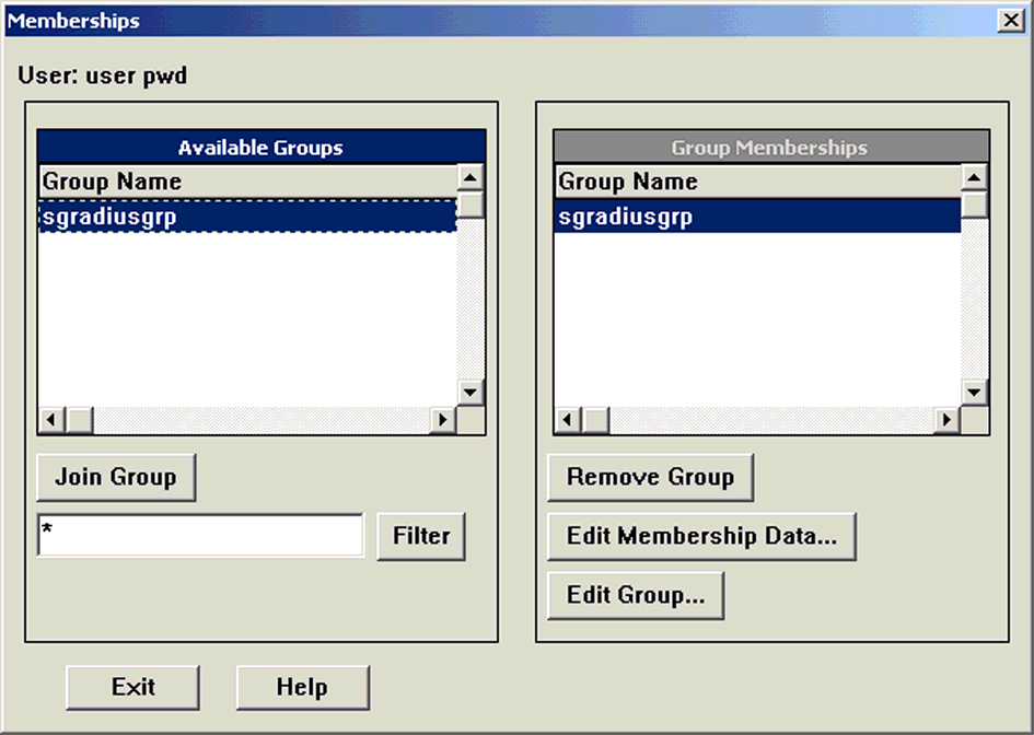7. Click the Group Memberships button. The Memberships dialog box opens. ILLUSTRATION 1.14 Memberships 8. Select the group you created from the Available Groups column. 9. Click Join Group. 10.