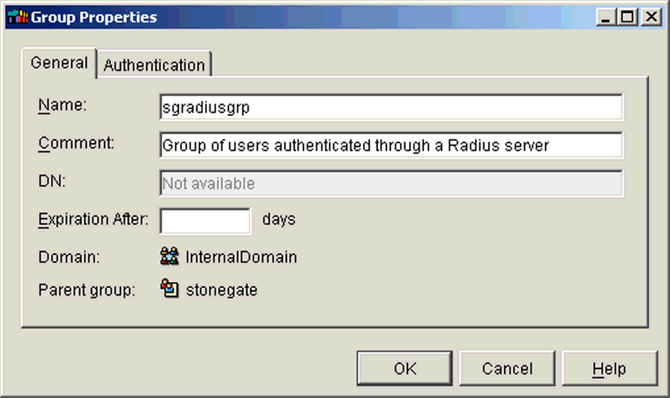 ILLUSTRATION 1.25 RADIUS server activated 7. Create a group profile for all users authenticating to the RSA ACE/Server. In the User Manager User Directory tab, expand the InternalDomain. 8.