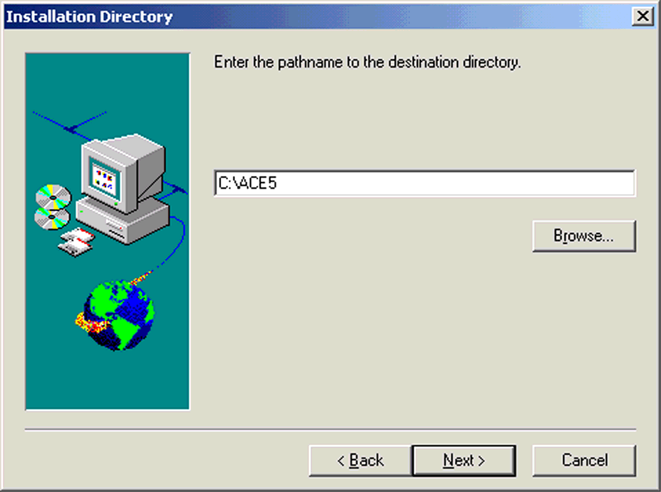 RSA ACE/Server Installation ILLUSTRATION A.49 Available Input Files 7. In the Installation Directory window, enter the pathname to the destination directory.