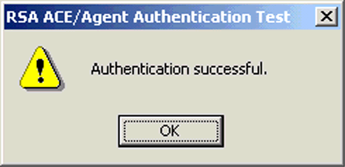 ILLUSTRATION C.81 New PIN 16. A dialog box confirms whether or not the authentication has been successful. ILLUSTRATION C.