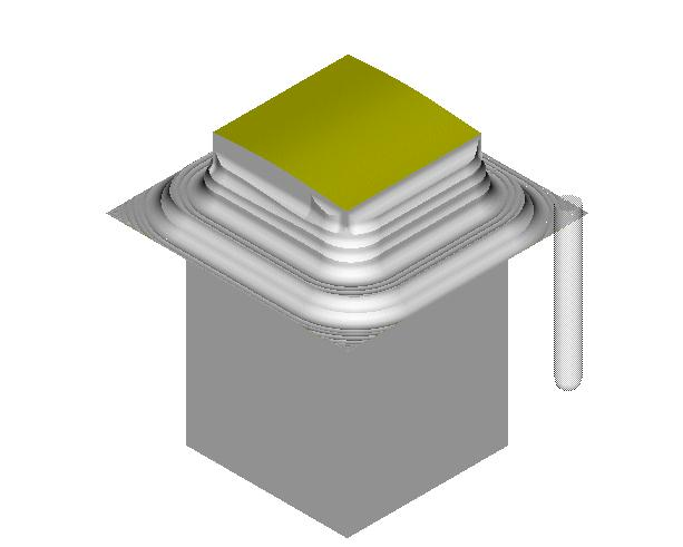 Create a surface mill NC Sequence, with a ½ diameter ball end mill with same speeds/feeds and step over that was used in the cavity.