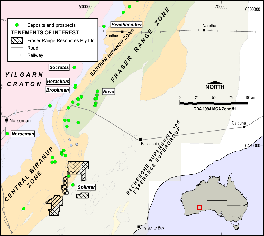 DERALINYA PROJECT Deralinya Tenements Deralinya tenements (1,298km 2 ) on the southern end of the Fraser Range Prospective for: Archean Ida fault extension type gold Shear zone