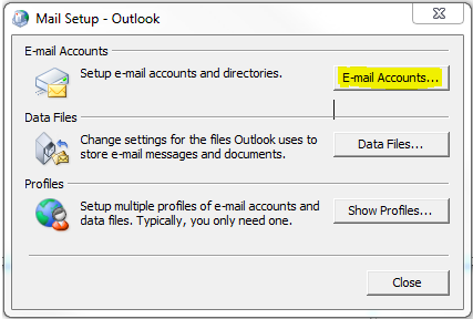 MICROSOFT OUTLOOK SETUP In your control Panel choose Mail Make
