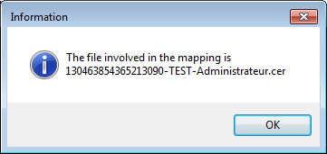 The following dialog is shown if the file cannot be used by Smart Policy.