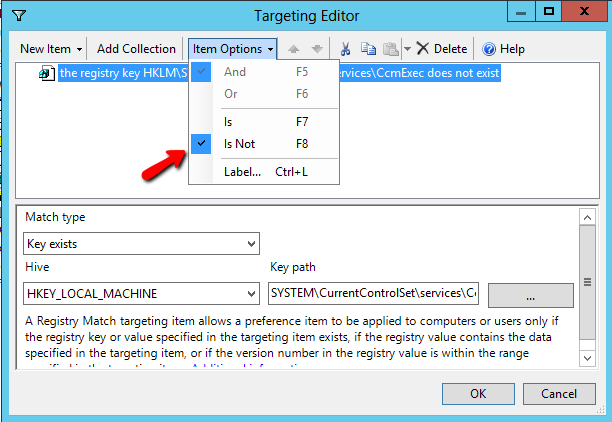 o Choose Item-level targeting and then click Targeting.