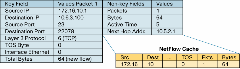 What is a Flexible NetFlow Non-Key Field? Additional information can be added to the Flow Record and this information is named non-key fields.