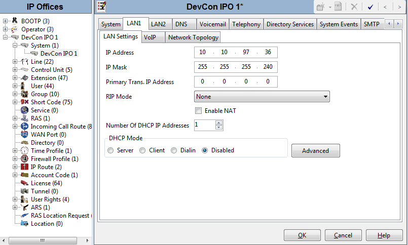 5.2. Obtain LAN IP Address From the configuration tree in the left pane, select System to display the DevCon IPO 1 screen in the right pane.