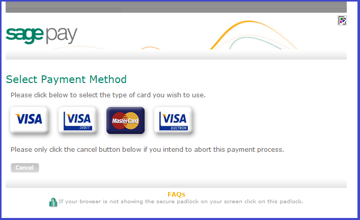 5 Payment Method To add a payment method to your account, click on the My Account tab on the control panel to access the following