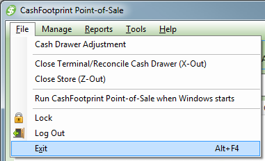 A Few General Things To Know When using this manual and CashFootprint, please keep in mind the following things: Menu references will be displayed as follows (menu: File > Exit).