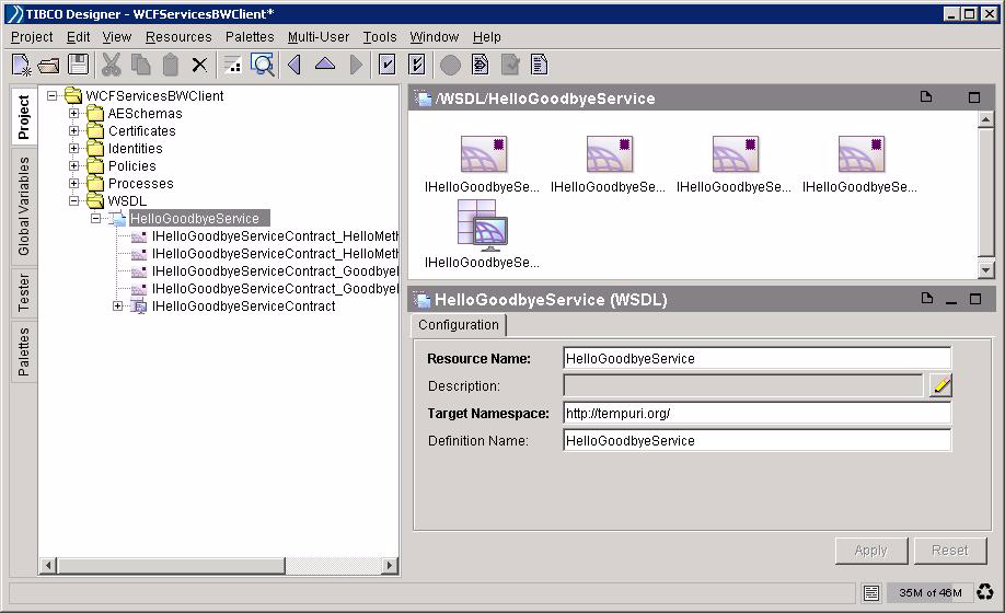 Managing Sample Service 15 Task D Run TIBCO ActiveMatrix BusinessWorks Project and Test Policy 1.