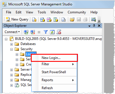 User Setup for SQL Security This section describes SQL security needed for MoversSuite and Microsoft Dynamics GP users.