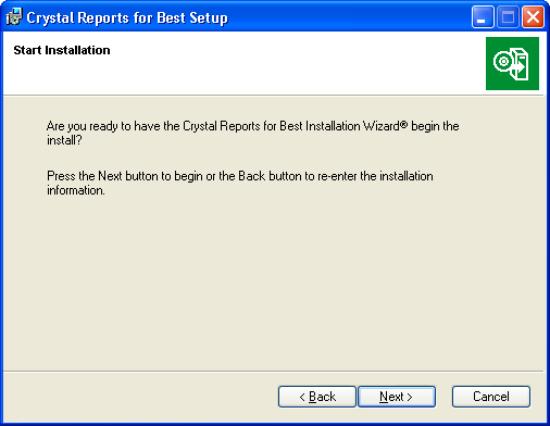 ... CRYSTAL REPORTS OVERVIEW Installing Crystal Reports to the Workstation... 5 Click Browse to change the installation path.