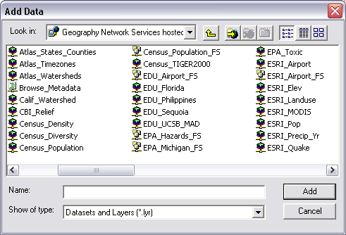 Finding_Data_Tutorial.Doc Page 15 of 19 Connecting to Networked Data Resources in ArcMap The Geography Network ArcMap has built-in support for networked data sources.