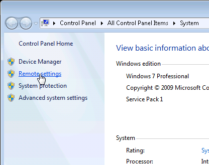 REMOTE DESKTOP SETUP INSTRUCTIONS 1.
