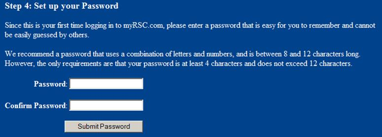 6. Enter a personal login and security questions 7. Enter a password and confirm 8.