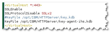 Using ikeyman (GUI) or gsk7cmd create a container key-agentihs.kdb in the IHS server. 2. Import the key exported form the TAD4D server to Personal Certificates of the container. 3.